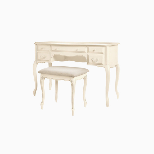 프로방스 아이보리 화장대  PROVENCALE IVORY DRESSING TABLE STOOL SET