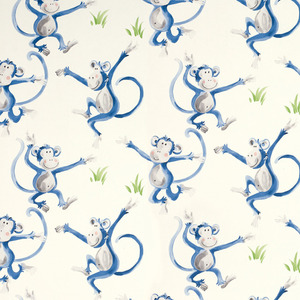 몽키 블루 벽지 MONKEY WALLPAPER BLUE