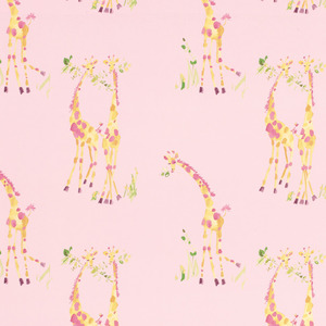기린 핑크 벽지  GIRAFFES WALLPAPER PINK
