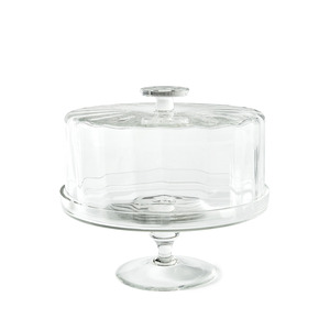 유리 돔 리드 스탠드GLASS CAKESTAND WITH DOMED LID