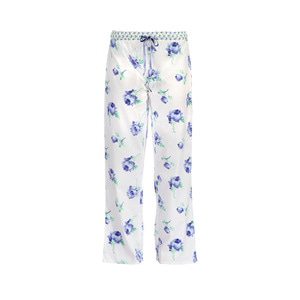 블루꽃 프린팅 파자마 바지 Blue Bloom Print Cotton Jersey Ptjama Trousers