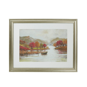 가을 그림 Autumn Scene Framed Print