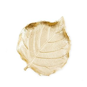 골드 잎 트링킷 접시 GOLD EFFECT LEAF TRINKET DISH