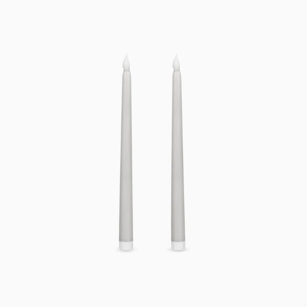 페일 실버 LED 디너 캔들세트 PALE SILVER LED DINNER CANDLES SET OF 2