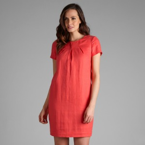 코랄 린넨 원피스 HALF SLEEVE LINEN DRESS