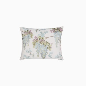 위스테리아 덕에그 쿠션  WISTERIA EMBROIDERY CUSHION DUCK EGG
