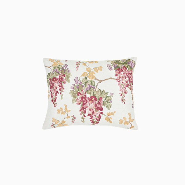 위스테리아 크렌베리 쿠션  WISTERIA EMBROIDERY CRANBERRY CUSHION