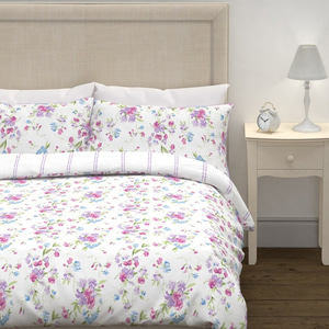스윗피 헤더 K 침구세트  SWEET PEA PRINTED HEATHER KG BEDSET